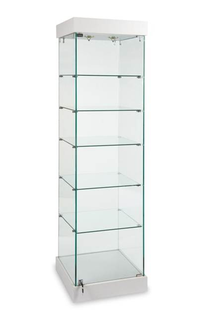 Glass Tower Display Case