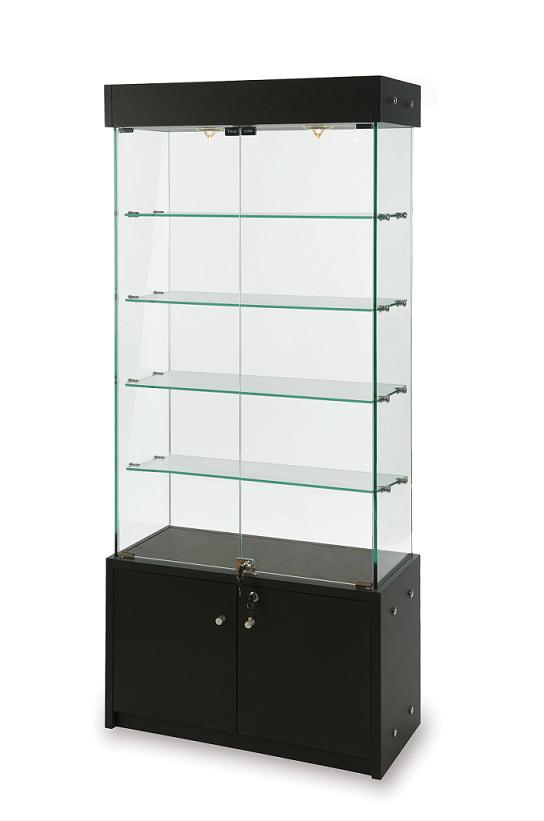 Display Tower with Bottom Storage