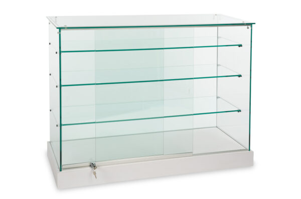 Full vision all glass display case