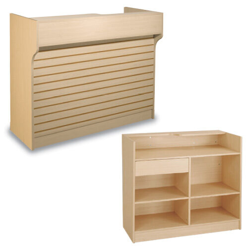 Ledgetop Counter with Slatwall Front.jpg - Maple